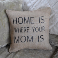 Mother's Day Pillow Cover! Cottage Chic decor, Family pillow cover, Country home Decor pillow, Personalized pillow, Decorative pillow.