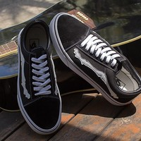 "Blends x Vans Vault Old Skool Zip LX ""Bones"" Running Shoes 35-44"