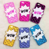 """Fashion """"WOW""""phone case for iphone 5 5s SE 6 6s 6 plus 6s plus + Nice gift box 1609300302GK"""