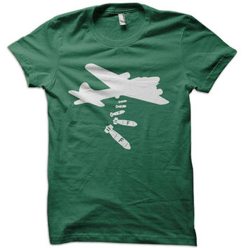 Dropping F-Bombs T-Shirt - f bomb t shirt military usa tee funny air force navy tshirt airplane plane