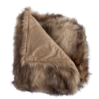 Ibex Multi faux fur fiber Pillow