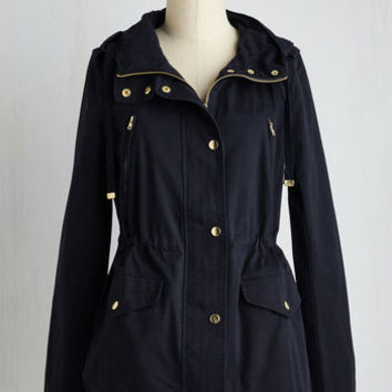 90s Mid-length Woods You Be Mine? Jacket in Navy