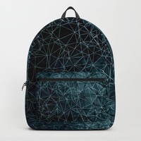 Polygonal blue and black Backpack by vanessagf