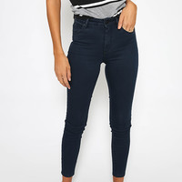 A Mid Skinny Ankle Basher Jean - Blue Nights
