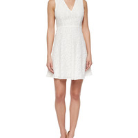 Women's Mariam Portray Floral-Lace Dress, White - Theory - White