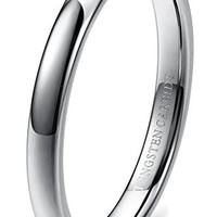3mm Tungsten Carbide Wedding Band Rings Engagement Promise Domed