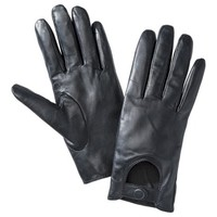 Merona® Driving Leather Glove - Black