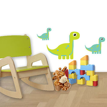 Colorful Dinosaur Wall Decal,Cute Dinosaur Wall Stickers, Wall Stickers Baby Nursery Decor,Cute colours Baby Nursery Decor