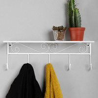 Scroll Shelf in White - Urban Outfitters