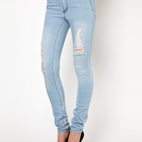 Vila | Vila Skinny Jean With Aztec Pocket at ASOS