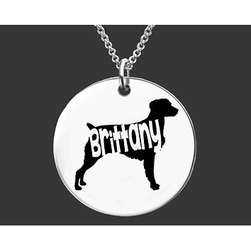 Brittany Necklace | Personalized Dog Necklace