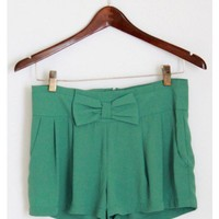 Green Bow Shorts