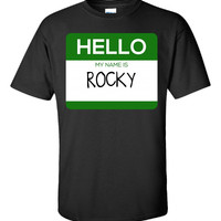 Hello My Name Is ROCKY v1-Unisex Tshirt