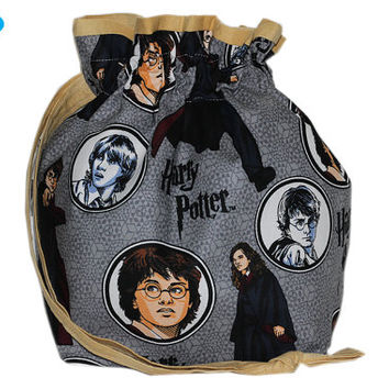 NEW Sock Bag | Knitting Project Bag | Project Knitting Bag | Drawstring Pouch | Harry Potter Bag