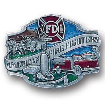 Sports Jewelry & AccessoriesSports Accessories - American Fire Fighters Enameled Belt Buckle