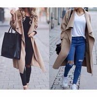 FASHION LONG-SLEEVED LOOSE COAT