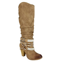 SHOW STOPPER BOOTS IN NUDE