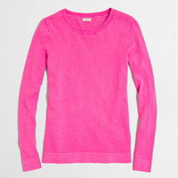 FACTORY SLUB COTTON TEDDIE SWEATER
