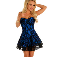 Blue Lace Corset Dress