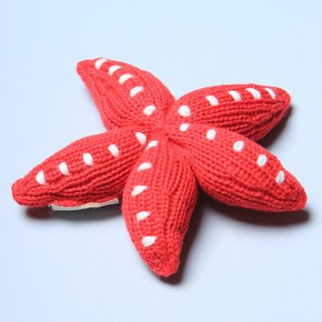 Organic Starfish Rattle Baby Toy