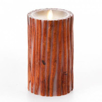 "7"" Real Cinnamon Stick Embedded Pillar Candle - Unscented"