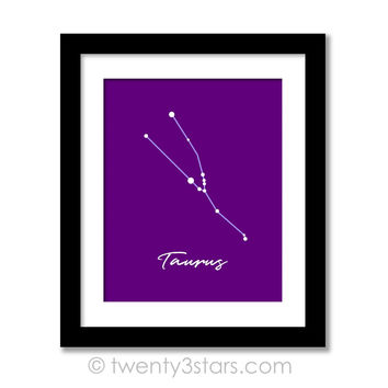 Taurus Constellation Stars Wall Art - Choose Any Colors