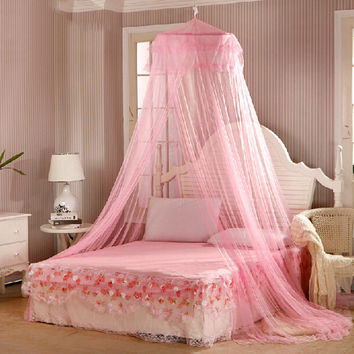 60*250*850cm Elegant Round Lace Insect Bed Canopy Netting Curtain Dome Mosquito Net New House Bedding Decor Summer Product