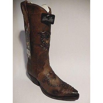 "Dan Post Hand Made Leather ""Heart"" Women Cowboy Boots"