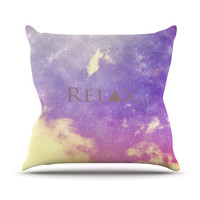"Rachel Burbee ""Relax"" Throw Pillow"