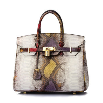 Croc Python Shoulder Bag Famous Geuine Skin Totes Handbags