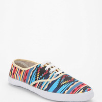 Urban Outfitters - Red Printed Plimsoll Sneaker