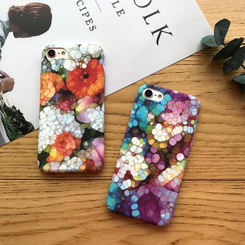 Womens Unique Floral Pattern Case for iPhone X 8 7 6S Plus High Quality + Gift Box