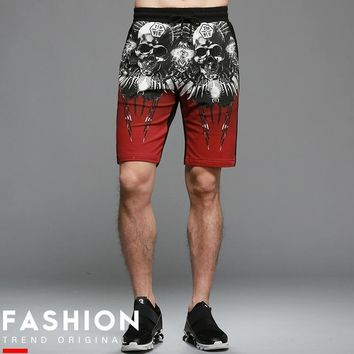 Cotton Summer Skull Printed Slim Color shorts