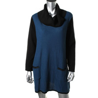 Style & Co. Womens Knit Cowl Neck Sweaterdress