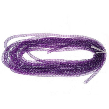 Mesh Tubing Deco Flex Ribbon, 8mm, 10-yard, Purple