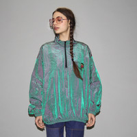 1980s Vintage Neon Iridescent Surf Style Windbreaker Jacket – Vanguard Vintage Clothing