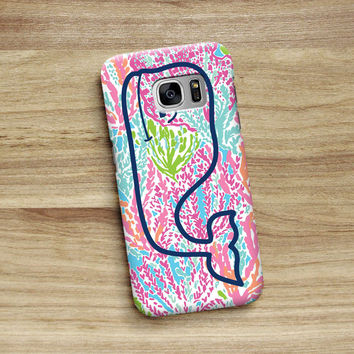 Cute Vineyard Vines Lilly Pulitzer Lets Cha Cha For Samsung Galaxy S6 S6 Edge S7 S7 Edge