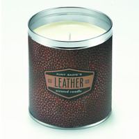 Brown Leather Candle