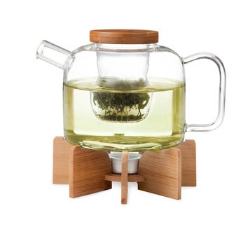 Glass Teapot With Stand