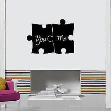 Wall Sticker Vinyl Decal Puzzle Romantic Love Wedding Bedroom Unique Gift ig1204