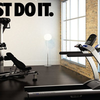 """JUST DO IT Wall Decor Vinyl Decal Gym Workout Motivation Quote 6""""x30"""""""