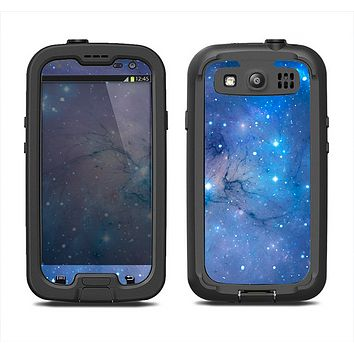 The Blue & Purple Mixed Universe Samsung Galaxy S3 LifeProof Fre Case Skin Set