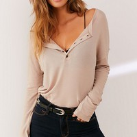 UO Prescott Henley Top | Urban Outfitters