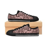 Straight Out Of Samoa Tapa Printed WomenS Sneakers