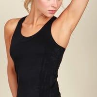 Get Fitted Tank Black