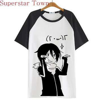 2016 Summer Style Sudadera Anime Tops Tee Casaul Noragami T-shirt Women Japan Cool Clothes Patchwork Female Harajuku Shirt