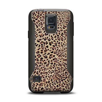 The Brown Vector Leopard Print Samsung Galaxy S5 Otterbox Commuter Case Skin Set