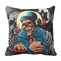 The Death Question: Will You Play With Me? Throw Pillow