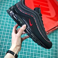 Kappa X Nike Air Max 97 Black Red Aj1986-004 Sport Running Shoes - Best Online Sale