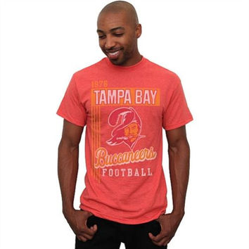 Tampa Bay Buccaneers Vintage Vertical Lines Team Color T-Shirt